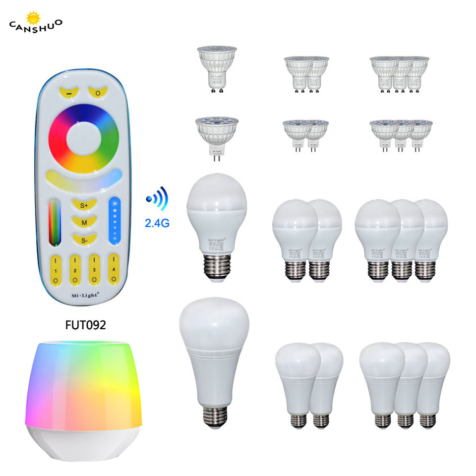 Persevering Milight Rgbcct Full Color 4w 6w 9w 12w Led Bulb Gu10 Mr16 E27 Dimmable Led Bulbs Lamp Light For Indoor Decoration Remote Control Removing Obstruction Lights & Lighting