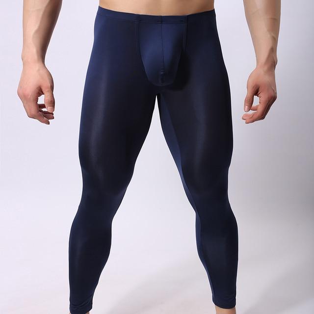 Sleep Bottoms men sexy Sheer Long Pants Gay Tights ...