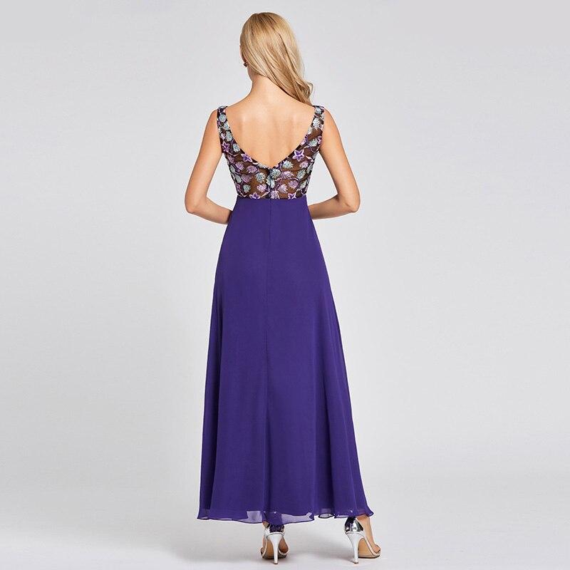 Tanpell 背中のドレスリージェンシーノースリーブ床の長さ a ラインドレスの女性のウェディングパーティーレースフォーマルイブニング  グループ上の ウェディング & イベント からの イブニングドレス の中 3