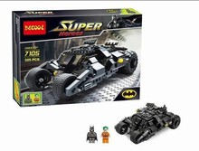 Baby Toys Decool 7105 Building Blocks Super Heroes cars Batman joker Minifigures Bricks action ToysCompatible Legoelied Bricks