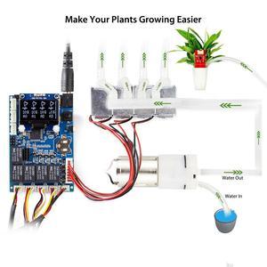 Image 2 - Elecrow Kit automático de agua para plantas Sensor de humedad de suelo Arduino, bricolaje, autoriego, Kit inteligente de agua para plantas