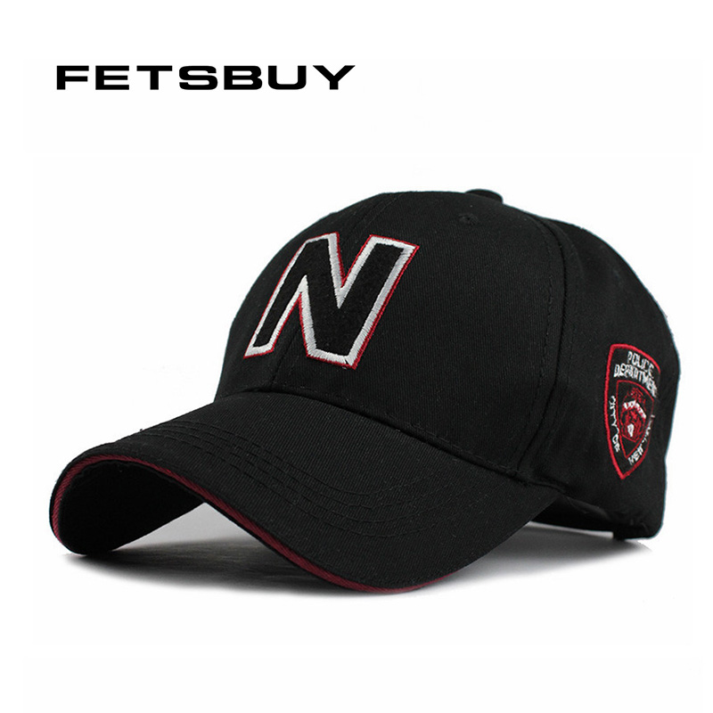 FETSBUY High Quality Cotton N Baseball Cap Unisex Couple Cap Fashion Leisure HAT Snapback Cap Sun Running Hats For Men Women fashion printed skullies high quality autumn and winter printed beanie hats for men brand designer hats