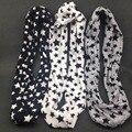 5 cores Clássico Anel de lenço de algodão crianças menino menina das crianças lenços Xale Unisex Inverno tricô estrelas Collar Neck Warmer novo 2015