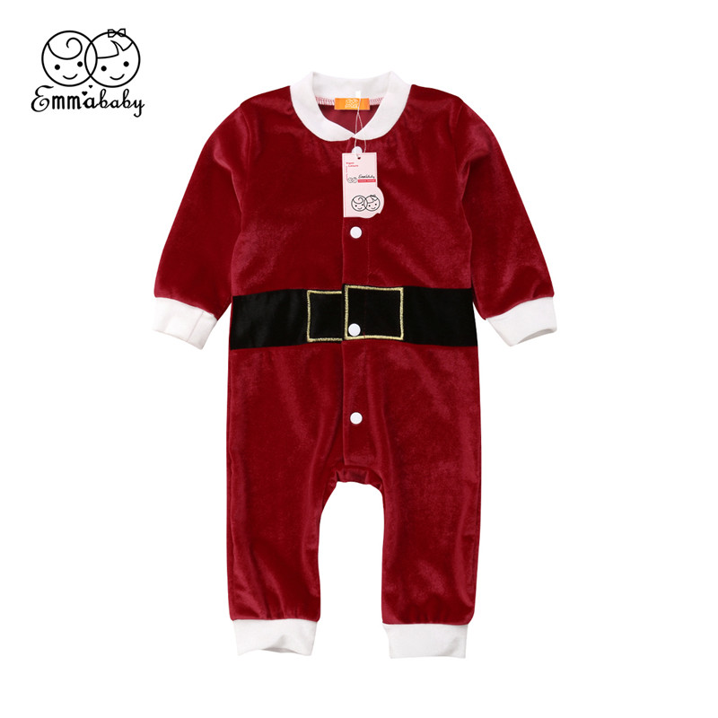 Infant Toddlers Xmas Baby Girls Boys Single Breasted Cotton Long-sleeved Print Romper Newborn Home Infant Toddlers Clothing girls eyes print romper
