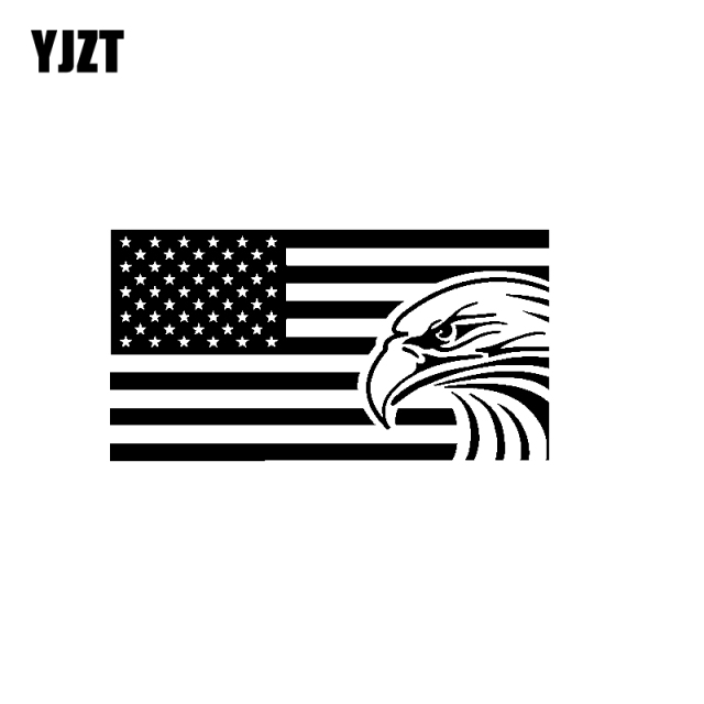 Yjzt 18cm 9 5cm American Flag Eagle Usa Vinyl Car Sticker Decal