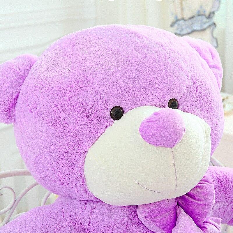 High Quality 140CM big giant purple teddy bear animals plush stuffed toys children kid dolls girls Christmas vanlentine gift - 5