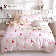 Liv-Esthete New Fashion Love You Bedding Set Soft Duvet Cover Flat Sheet Bedspread Double Queen King Bed Linen For Girl Gift
