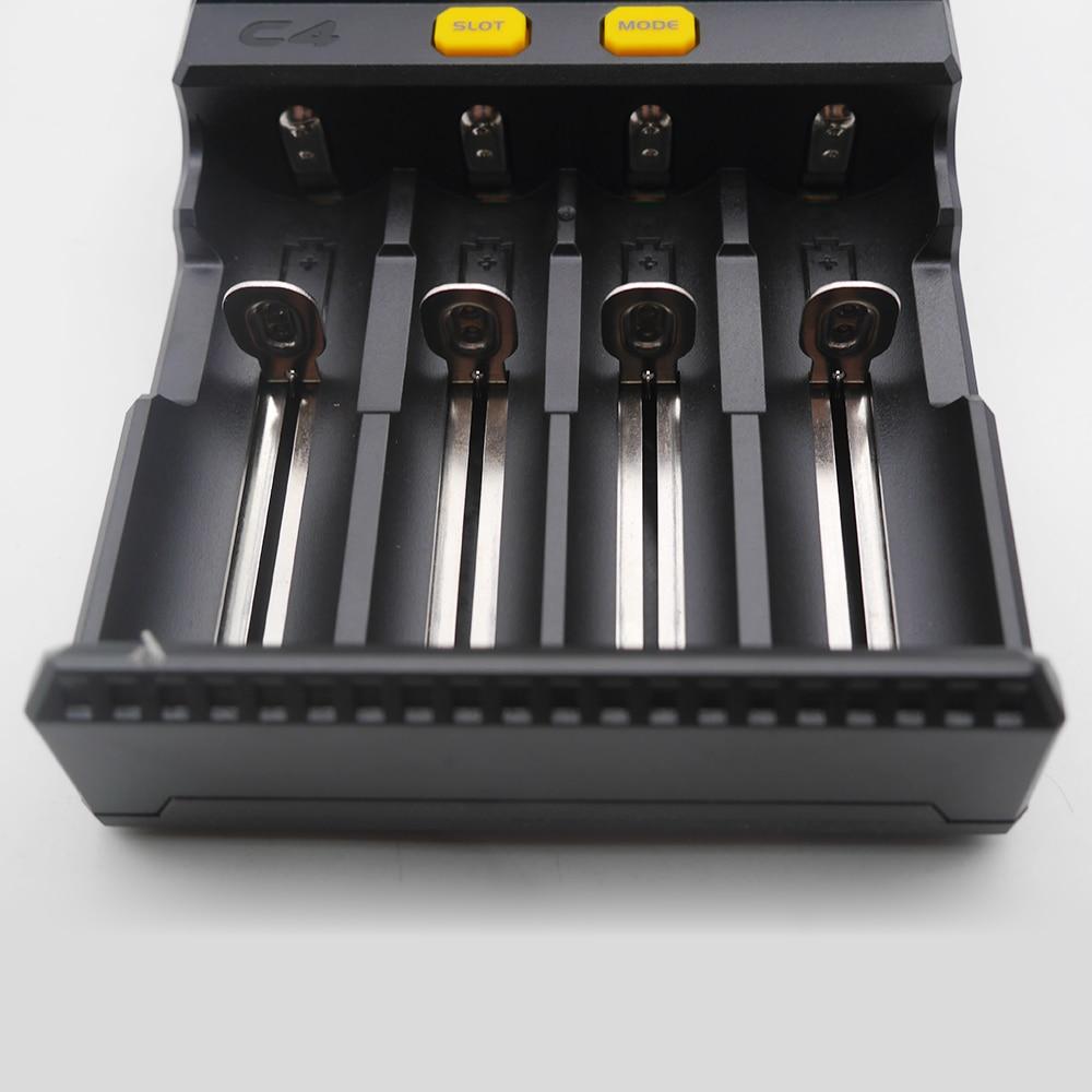 Image 5 - Atacado lcd inteligente carregador de bateria miboxer c4 para li  ion imr icr lifepo4 18650 14500 26650 21700 aaa baterias 100 800 mah  1.5aAcessórios portáteis de iluminação