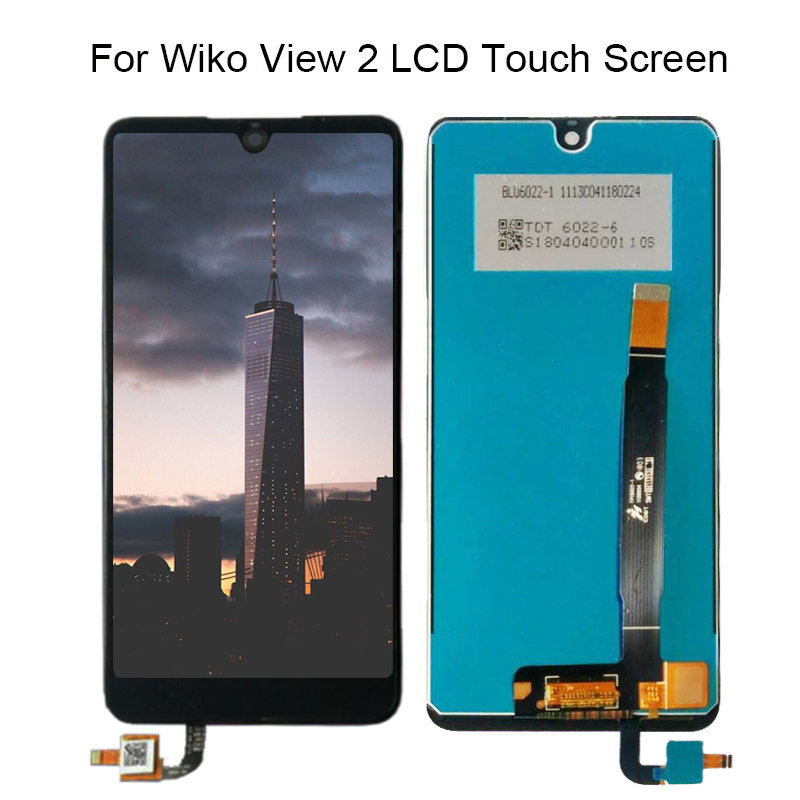 Tested Well For Wiko View 2 LCD Display+Touch Screen 100% tested LCD Digitizer Glass Panel Replacement +Free Tools