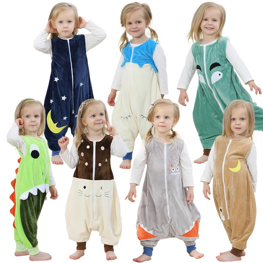 Franela caliente ropa de dormir niños de prevenir una Halloween manta de bebé traviesas Animal pies pijama navidad niños prendas