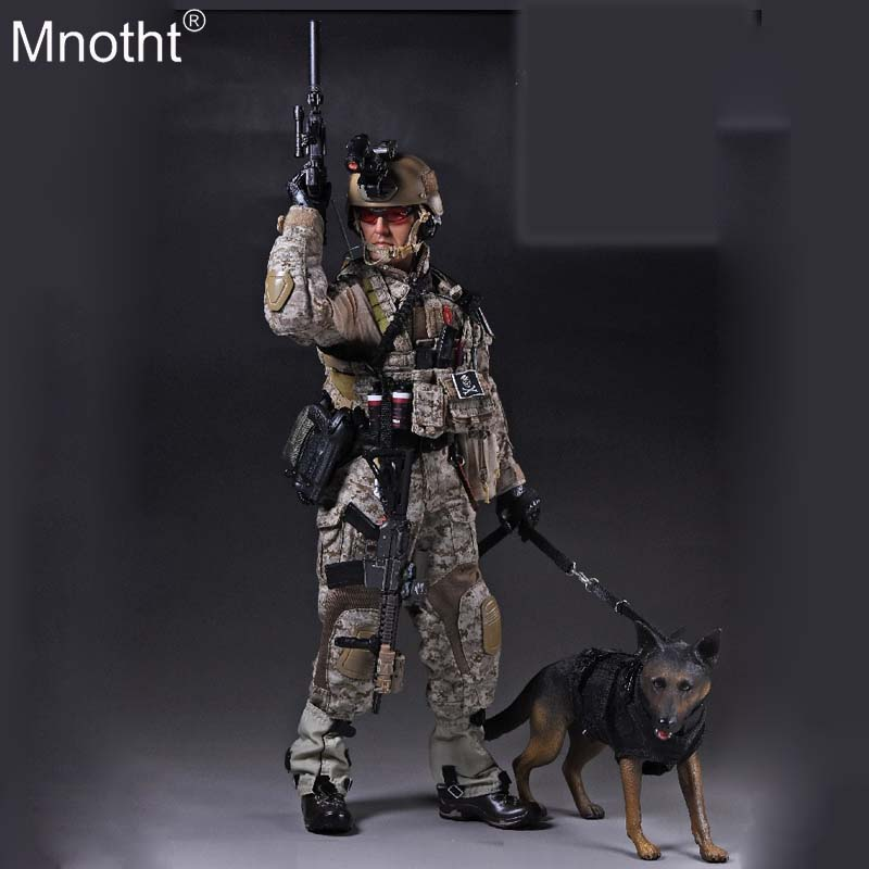 Mnotht 1/6 Male Soldier US Navy Seal Six Clothes Suit Suncha K9 with Dog Body Model Toy Accessory for 12in Action Figure m3n 1 6 scale full set soldier action figure sdu special duties unit k9 with dog soldier story ss097 for collection
