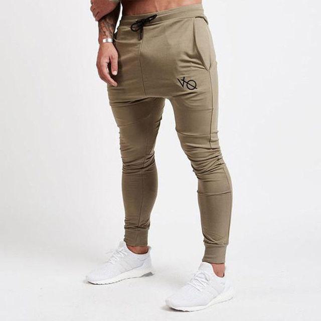 01a1b72267b Mens Joggers 2018 GYMS New Men Pants Trousers Men Pants Gymming Men Slim  Fit Sporting Male Breathable Joggers Black khaki