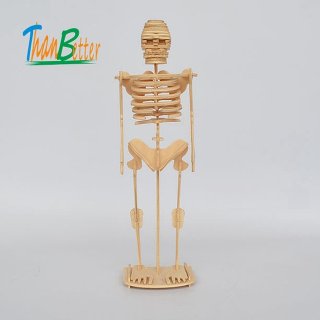 DIY Assembling Artificial Skeleton Wooden Mannequin Toys Human Body ...