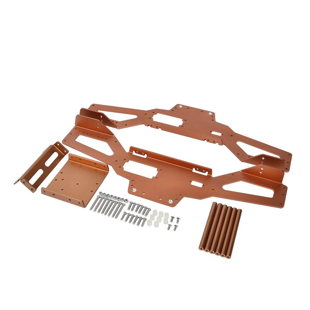 RC 1/10 Kit Amortecedores de Liga de Alumínio Com Chassis para Tamiya Clodbuster/Bullhead 4*4 6*6