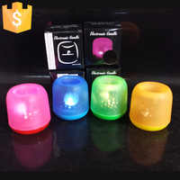 LED nuit électrique Candel lumière soufflant ou tapotant capteur contrôle LED lampe de Table pour boîte de nuit accueil Bar 20 pièces