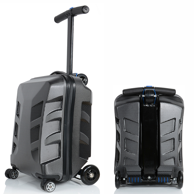 Letrend New Fashion Unique EVA Skateboard Rolling Luggage 21 inch Business Women Men Trolley Suitcases Student
