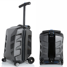 Letrend New Fashion Unique EVA Skateboard Rolling Luggage 21 inch Business Women Men Trolley Suitcases Student Travel Bag Trunk