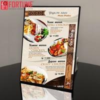 A4 Led Light Boxes Restaurant Menu Board Signboard For Fast Food Menu Led Illuminated Poster Frame Light Box Advertising Display