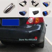 Para Toyota Corolla Altis 2007 2008 2009-2013 tampa do carro tubo de escape ponta silenciador extremidade do tubo exterior de volta dedicar tomada de ornamento
