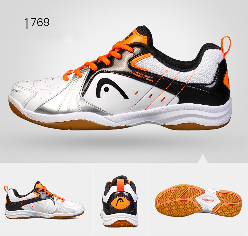New HEAD Non Slip Badminton Shoes for Men WomenTraining Breathable Anti Slippery Tennis Sneakers Professional Sport