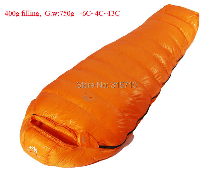 Goose down 400g Filling -6C~13C! Ultra-light down outdoor goose down sleeping bag outdoor adult breathable thicken sleeping bag goose down 400g 600g 800g 1000g filling ultra light down outdoor goose down outdoor adult breathable thickening sleeping bag