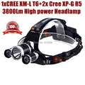 AloneFire HP83 high power 1xCREE XM-L T6+2xCREE XP-G R5 3800LM bike bicycle CREE LED Head lamp Head lights