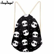 Бесшумный дизайн 3d прекрасный узор панда печать мужская сумка