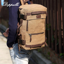 Doppulle высокое Ёмкость Рюкзак Ретро Стиль человек женщина холст рюкзак дорожная сумка на ремне сумки Альпинизм рюкзаки