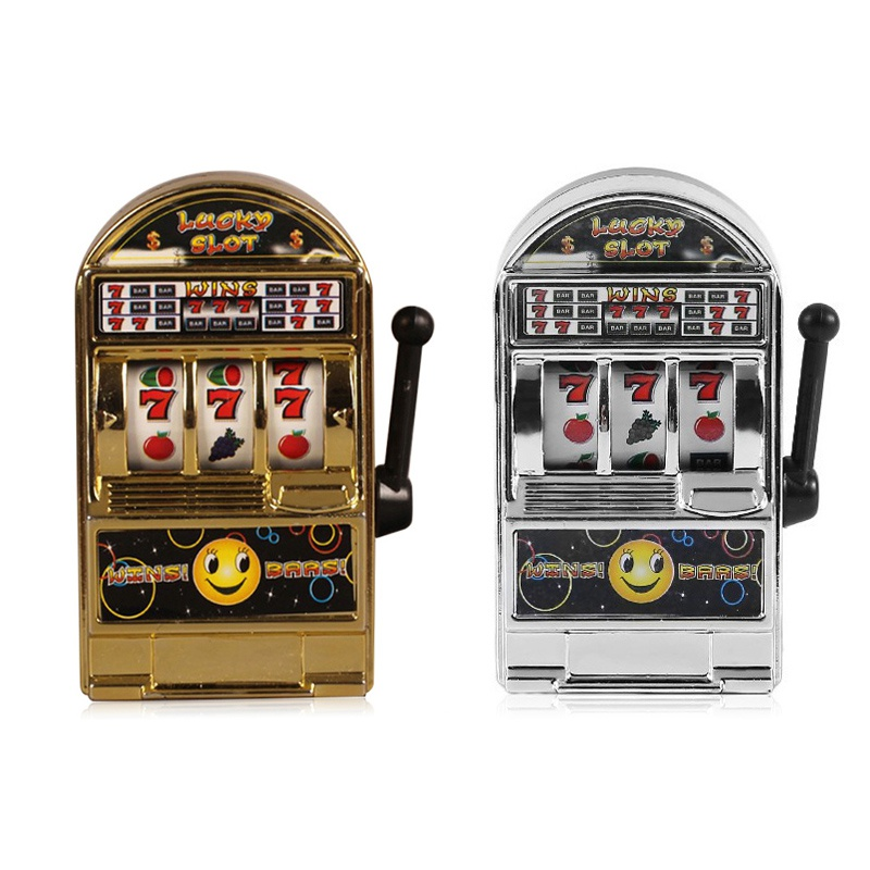 CuteNew Children' S Slot Machine Mini Toy Lucky Jackpot For Fun Birthday Gift Kids Safe New Style Healthy Machine Mini Toy J2