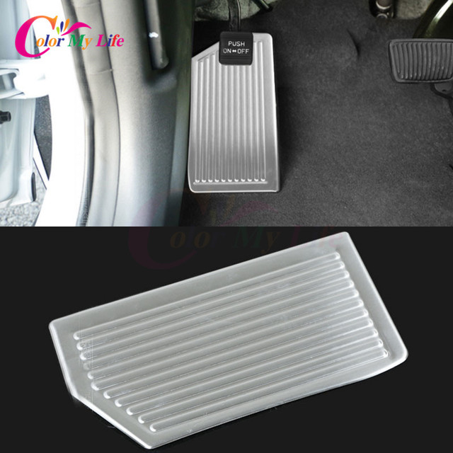 1Pc Stainless Steel Car Rest Pedal Protection Trim Car Decorat Cover Sticker For Hyundai New Tucson LHD 2015 2016
