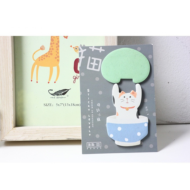 24 pcs/Lot Cute animal memo pad Cartoon cat sticky notes Bear Monkey post Stationery Office accessories School supplies F550