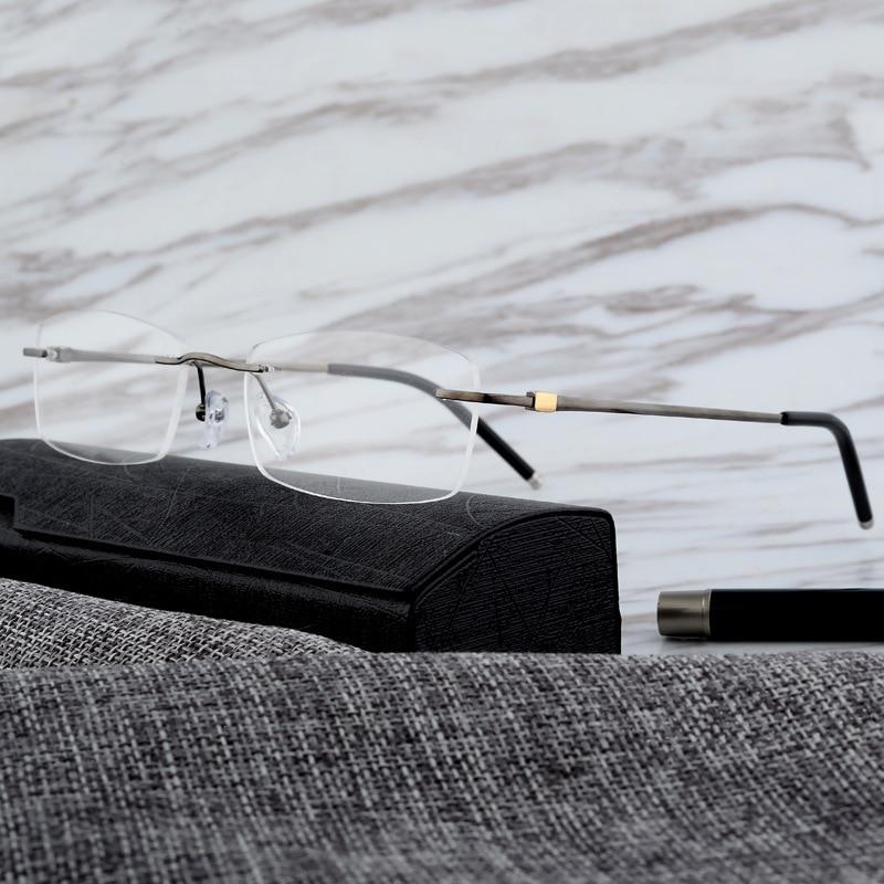 Vazrobe titane lunettes cadre hommes IP placage lunettes pour homme Prescription lunettes sans monture lunettes optiques lunettes