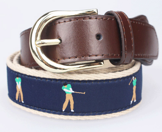 New style and design famous men belt brand luxury pattern with pople needlepoint leather belt for golf belt man