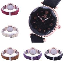 Fashion Women Girls Rivet Prismatic Starry Sky Arabic Number School Wrist Watch Ladies Watches