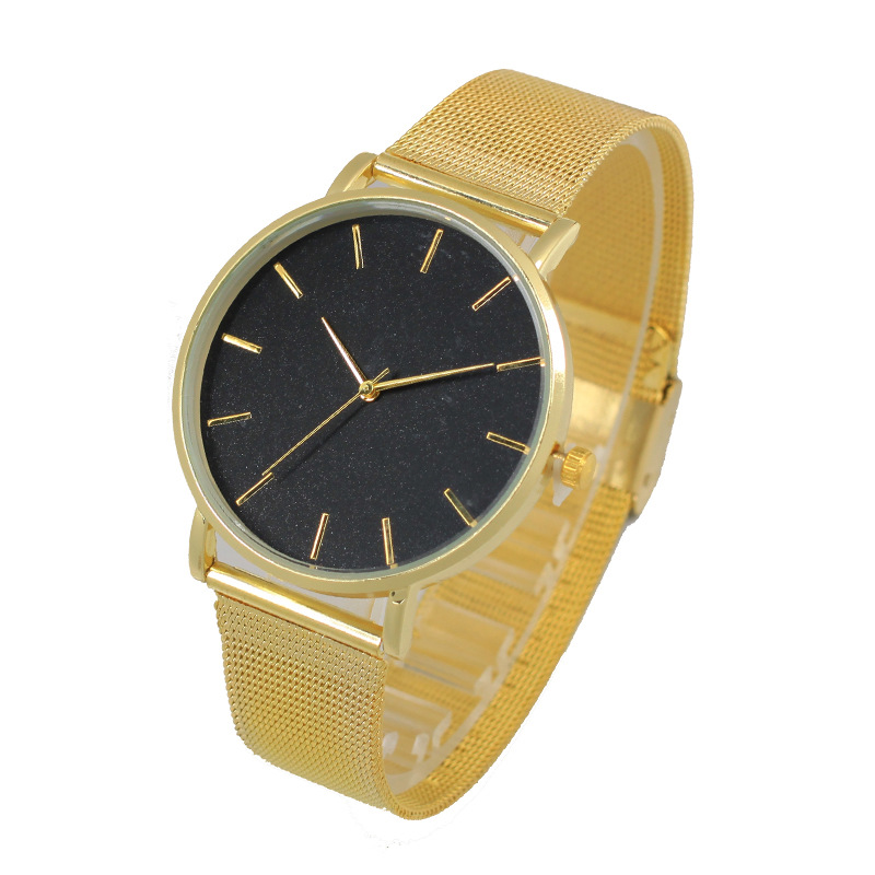 Top Quartz Watch Men Women Famous Brand Gold Leather Band Relojes de - Relojes para mujeres