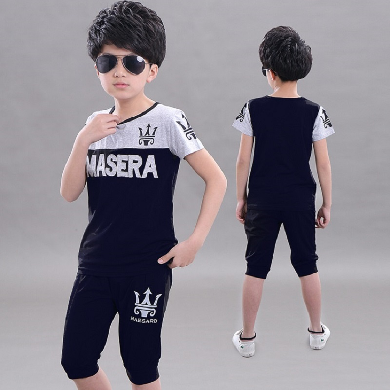 5db702d02 Children'S Summer Leisure Sportswear Cartoon Maserati Print Short Sleeves T  Shirt Knee Pants Suit Cool Sexy H2o Kids Sportswear-in Clothing Sets from  Mother ...