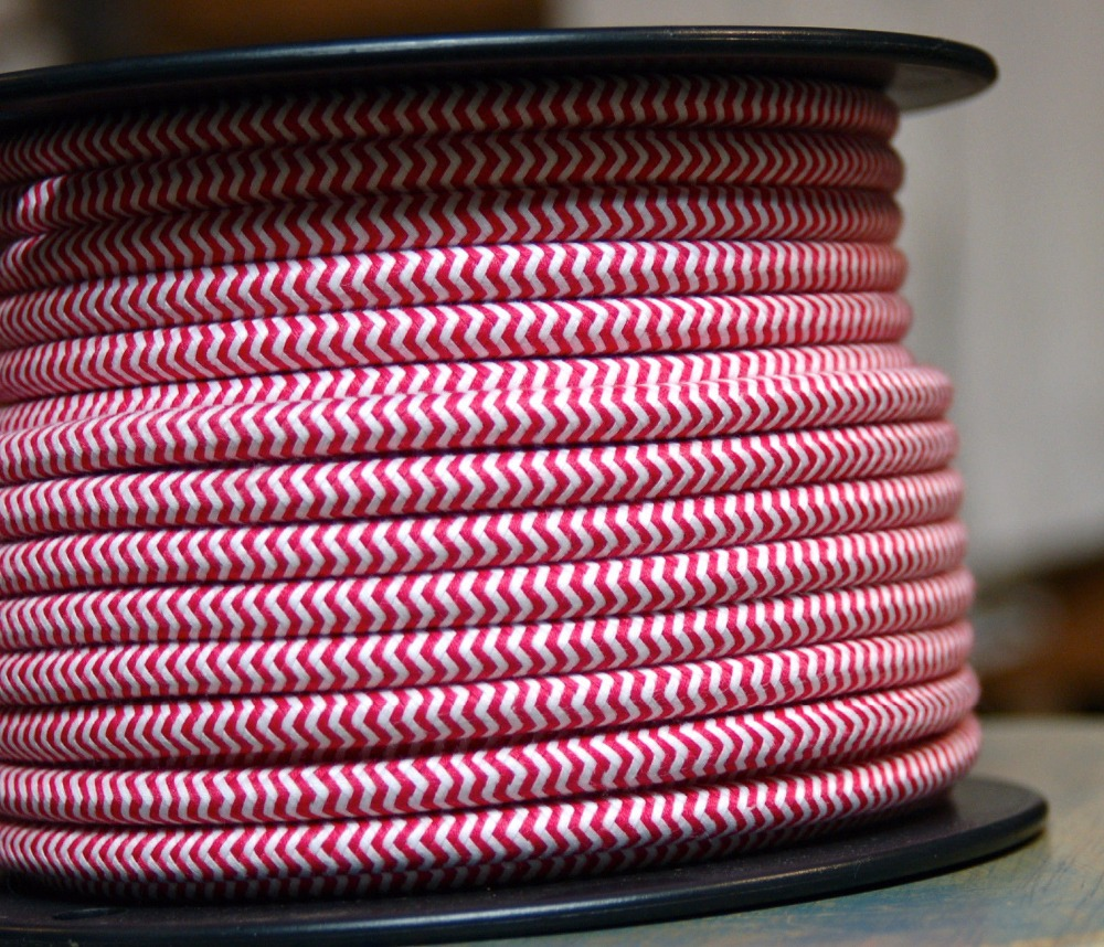 2*0.75 Copper Cloth Covered Wire Vintage Style Edison Light Lamp ...