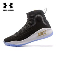 Under Armour Men's Curry 4 Basketball Shoes Medium Top Unique Socks Design Sneakers Men's Outdoor Stephen Curry Sports shoes