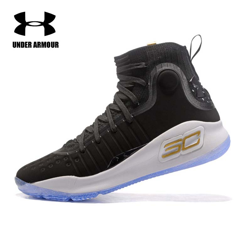 Under Armour Men's Curry 4 Basketball Shoes Medium Top Unique Socks Design Sneakers Men's Outdoor Stephen Curry Sports shoes denzel curry montreal