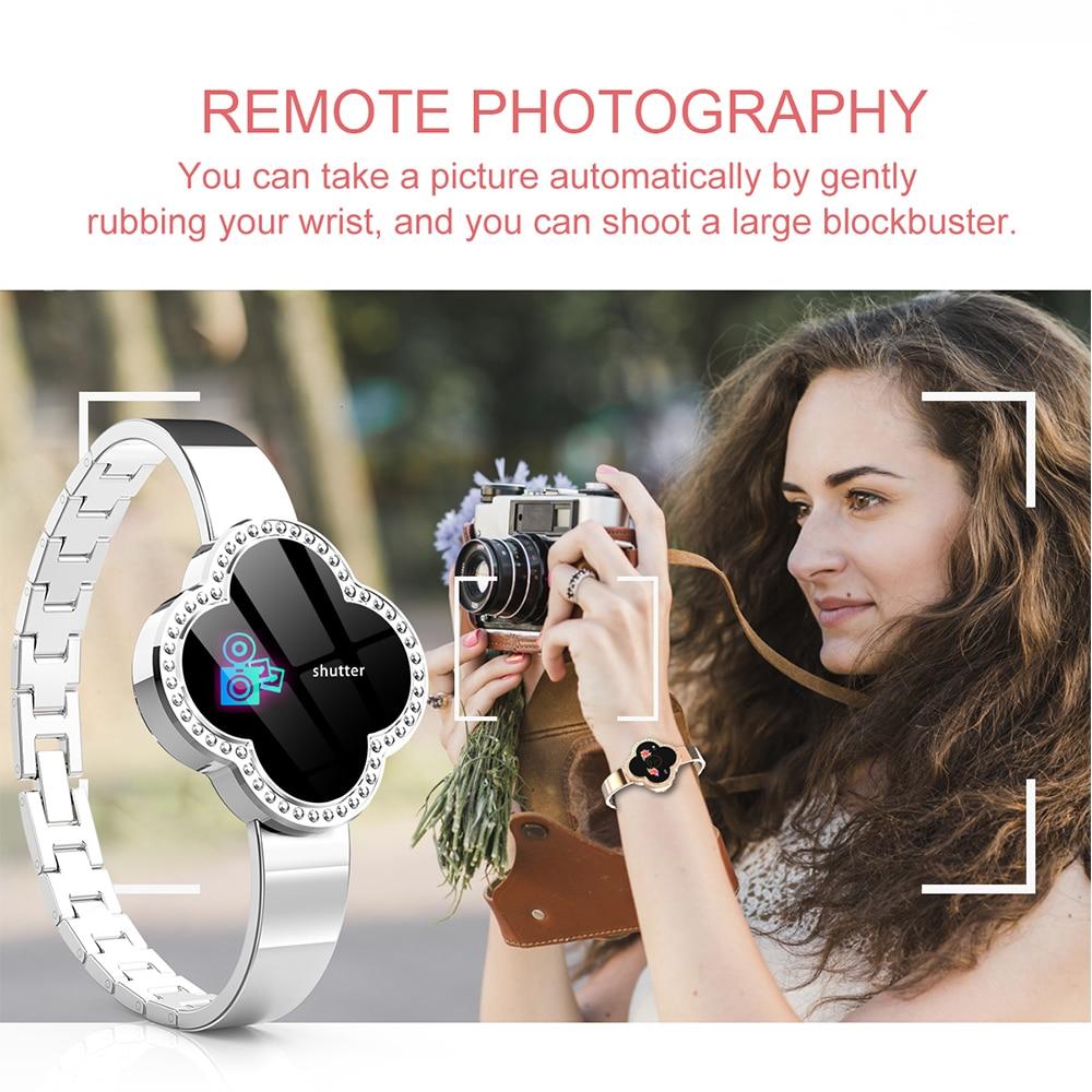 2019 Sport Bracelet montre femmes dame LED étanche Bracelet intelligent fréquence cardiaque pression artérielle podomètre horloge pour Android iOS - 5