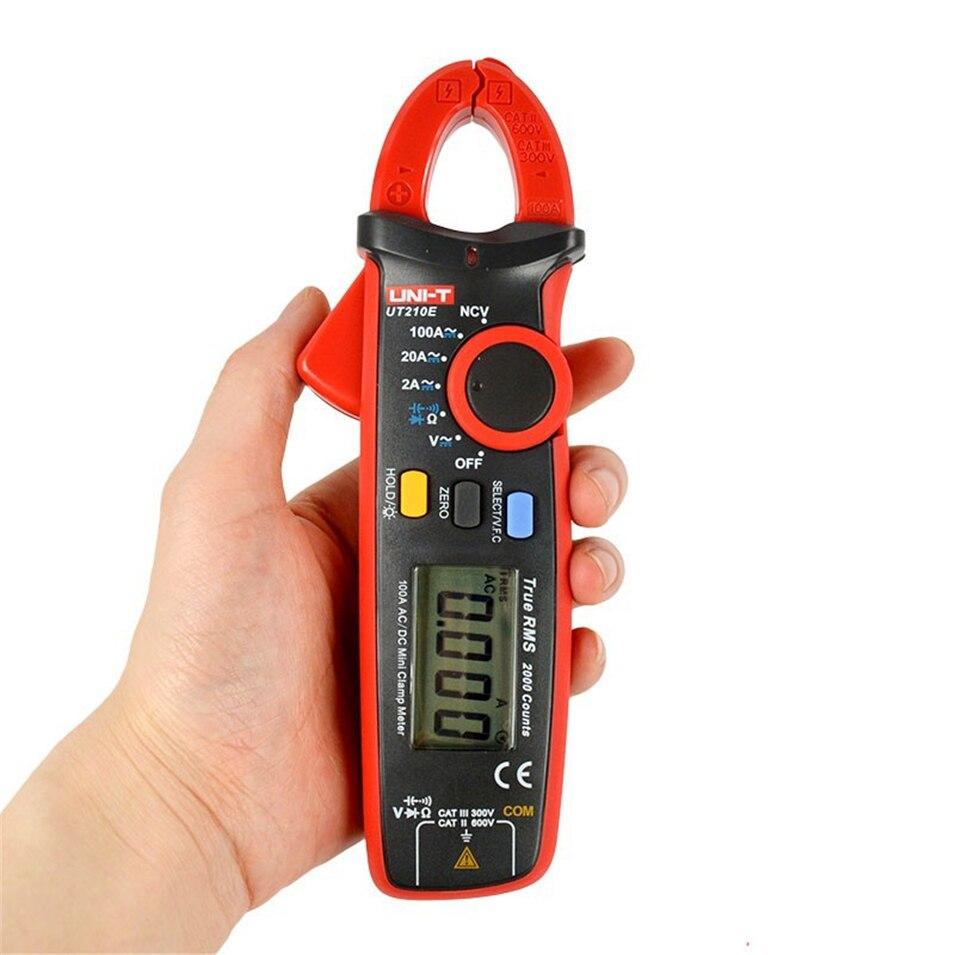 ЖК-дисплей Backligt Портативный ut210a Измерение переменного тока Авто Диапазон UNI-T ut210a Мини Цифровой Текущий клещи Вход защиты