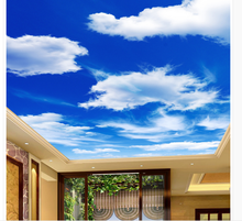 Home Decoration Blue sky and white living room bedroom ceiling ceiling murals 3d ceiling murals wallpaper white and black 3d wallpaper modern for living room murals 3d room wallpaper landscape home decoration