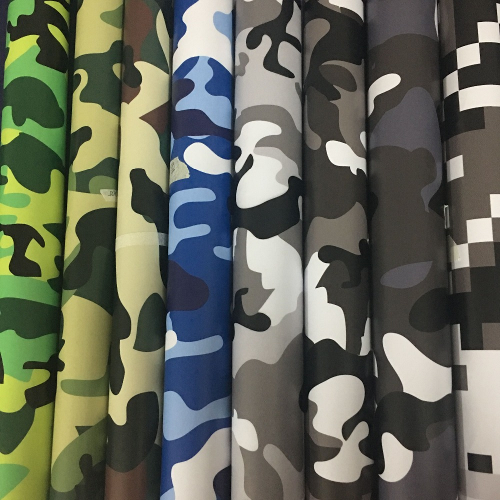 Over 10 kinds Camouflage Vinyl Car Wrap Decorative Auto Sticker Motorcycle Scooter DIY Decal Wraps Adhesive Camo Sheet(China)