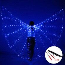 Danse du ventre LED ailes Isis coloré populaire scène Performance accessoires danse du ventre LED ailes accessoires avec bâton