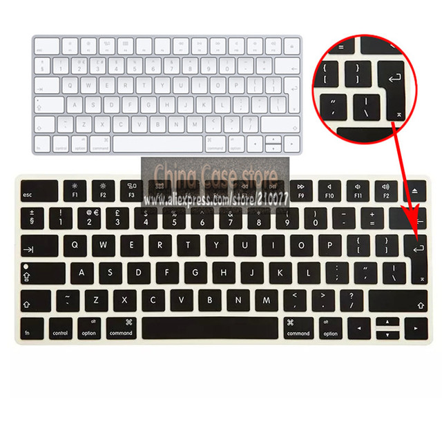 08edd0ef0b1 Keyboard Cover Skin for APPLE Magic Keyboard 2 Wireless Rechargeable UK/EU  version (2015 Latest Model)