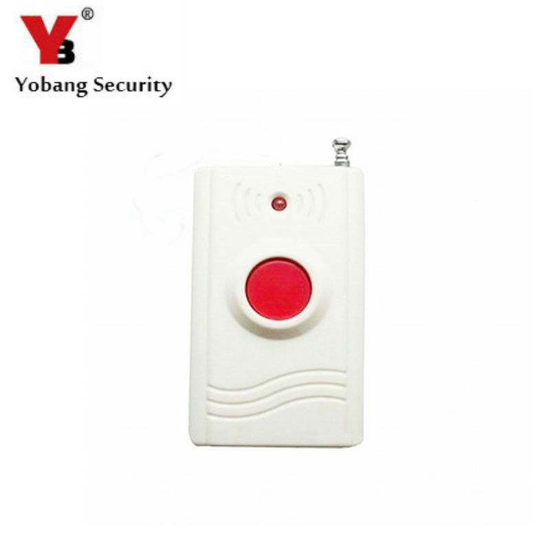YobangSecurity Wireless 433MHZ Panic Button Emengency Button Help Elderly Wireless Emergency Calling System for Alarm System 2 receivers 60 buzzers wireless restaurant buzzer caller table call calling button waiter pager system