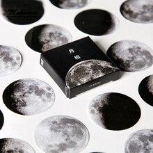 45 шт./кор. милый творческий Луна мини Бумага Стикеры украшения Diy Ablum дневник в стиле Скрапбукинг этикетка Стикеры канцелярские принадлежности для школьных принадлежностей