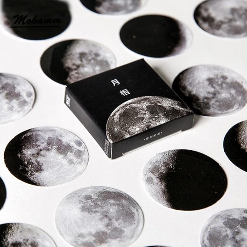 45 Pcs/box Cute Creative Moon Mini Paper Sticker Decoration Diy Ablum Diary Scrapbooking Label Sticker Stationery School Supply