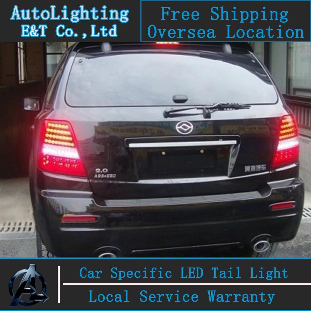 все цены на Car Styling For Kia Sorento taillight assembly 2010-2013 Sorento led tail light drl Kia LED Tail Lamp rear light with 4pcs. онлайн