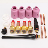 17Pcs Set Alumina Copper Plastic Gas Lens Accessory Kit Cup Collet Body 0 040 1 8